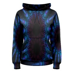 Exploding Flower Tunnel Nature Amazing Beauty Animation Blue Purple Women s Pullover Hoodie