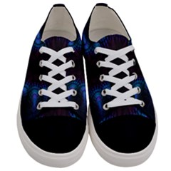 Exploding Flower Tunnel Nature Amazing Beauty Animation Blue Purple Women s Low Top Canvas Sneakers