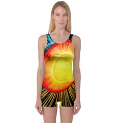Cross Section Earth Field Lines Geomagnetic Hot One Piece Boyleg Swimsuit