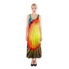 Cross Section Earth Field Lines Geomagnetic Hot Sleeveless Maxi Dress