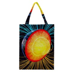 Cross Section Earth Field Lines Geomagnetic Hot Classic Tote Bag