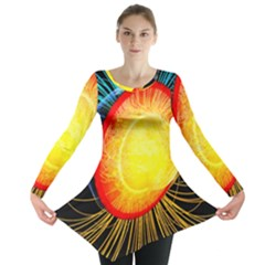 Cross Section Earth Field Lines Geomagnetic Hot Long Sleeve Tunic