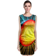 Cross Section Earth Field Lines Geomagnetic Hot Classic Sleeveless Midi Dress