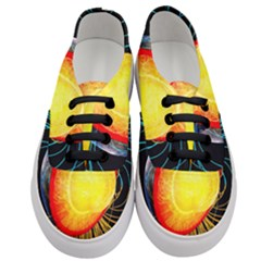 Cross Section Earth Field Lines Geomagnetic Hot Women s Classic Low Top Sneakers