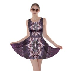 Flower Twirl Star Space Purple Skater Dress