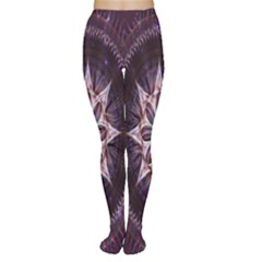 Flower Twirl Star Space Purple Women s Tights