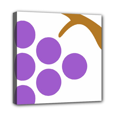 Fruit Grape Purple Mini Canvas 8  X 8