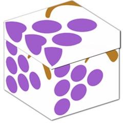 Fruit Grape Purple Storage Stool 12