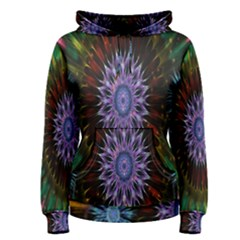 Flower Stigma Colorful Rainbow Animation Gold Space Women s Pullover Hoodie