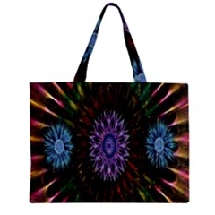 Flower Stigma Colorful Rainbow Animation Gold Space Zipper Mini Tote Bag