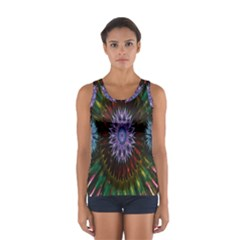 Flower Stigma Colorful Rainbow Animation Gold Space Sport Tank Top