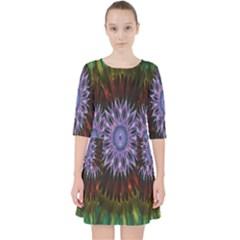 Flower Stigma Colorful Rainbow Animation Gold Space Pocket Dress