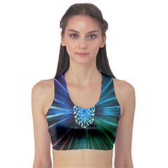 Flower Stigma Colorful Rainbow Animation Space Sports Bra