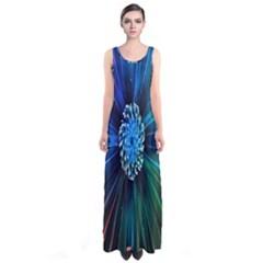 Flower Stigma Colorful Rainbow Animation Space Sleeveless Maxi Dress