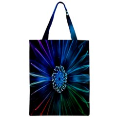 Flower Stigma Colorful Rainbow Animation Space Zipper Classic Tote Bag