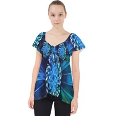 Flower Stigma Colorful Rainbow Animation Space Lace Front Dolly Top