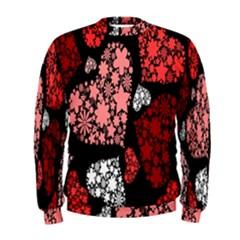 Floral Flower Heart Valentine Men s Sweatshirt