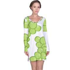 Fruit Green Grape Long Sleeve Nightdress