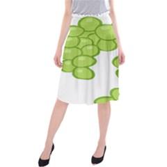 Fruit Green Grape Midi Beach Skirt