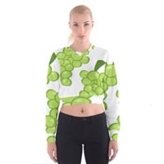 Fruit Green Grape Cropped Sweatshirt