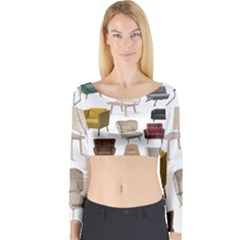 Furnitur Chair Long Sleeve Crop Top