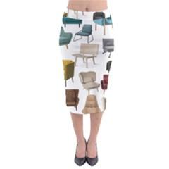 Furnitur Chair Midi Pencil Skirt
