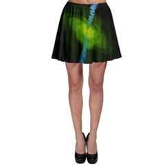 Gas Yellow Falling Into Black Hole Skater Skirt