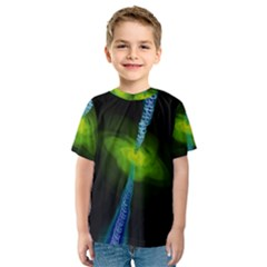 Gas Yellow Falling Into Black Hole Kids  Sport Mesh Tee