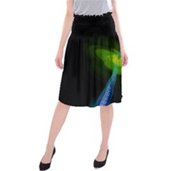 Gas Yellow Falling Into Black Hole Midi Beach Skirt