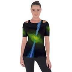 Gas Yellow Falling Into Black Hole Short Sleeve Top