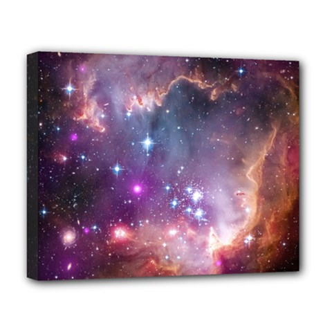 Galaxy Space Star Light Purple Deluxe Canvas 20  X 16