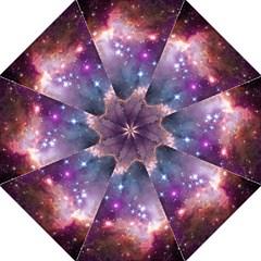 Galaxy Space Star Light Purple Hook Handle Umbrellas (medium)