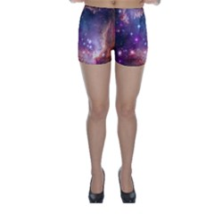 Galaxy Space Star Light Purple Skinny Shorts