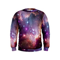 Galaxy Space Star Light Purple Kids  Sweatshirt