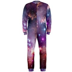 Galaxy Space Star Light Purple Onepiece Jumpsuit (men)