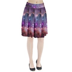 Galaxy Space Star Light Purple Pleated Skirt