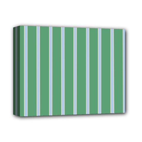Green Line Vertical Deluxe Canvas 14  X 11