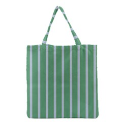Green Line Vertical Grocery Tote Bag