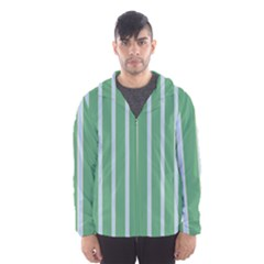 Green Line Vertical Hooded Wind Breaker (men)