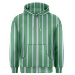 Green Line Vertical Men s Zipper Hoodie