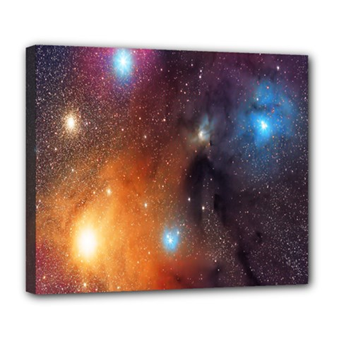Galaxy Space Star Light Deluxe Canvas 24  X 20