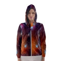 Galaxy Space Star Light Hooded Wind Breaker (women)