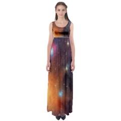 Galaxy Space Star Light Empire Waist Maxi Dress