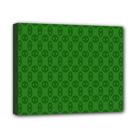 Green Seed Polka Canvas 10  X 8