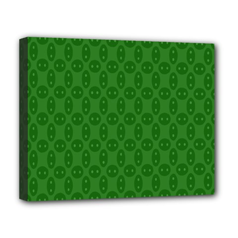 Green Seed Polka Deluxe Canvas 20  X 16