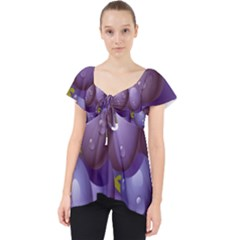 Grape Fruit Lace Front Dolly Top