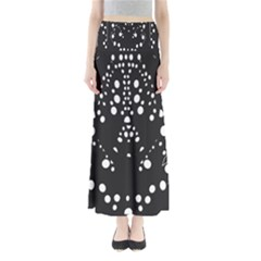Helmet Original Diffuse Black White Space Full Length Maxi Skirt