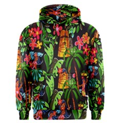 Hawaiian Girls Black Flower Floral Summer Men s Pullover Hoodie