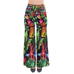 Hawaiian Girls Black Flower Floral Summer Pants