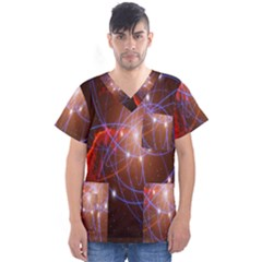Highest Resolution Version Space Net Men s V Neck Scrub Top